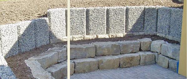 lieferumfang und aufbauanleitungen f r gabione steink rbe gabo flex als st tzwandelement. Black Bedroom Furniture Sets. Home Design Ideas