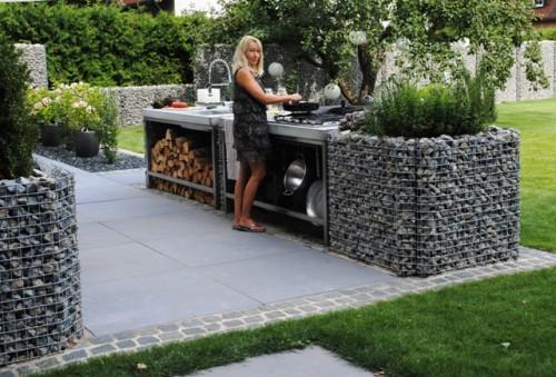 Outdoor Küche Rund : Gabionen gabo flex® individuelles und besonderheiten