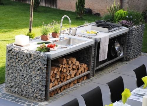 Garten Mit Outdoor Küche : Gabionen gabo flex® individuelles und besonderheiten
